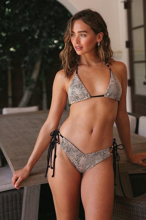 Snake Skin Side Tie Bikini (Preorder)