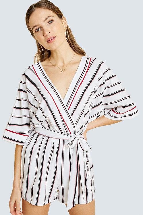 Striped Kimono Romper