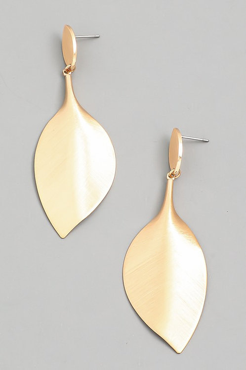 Smooth Gold Leaf Earrings (Preorder)