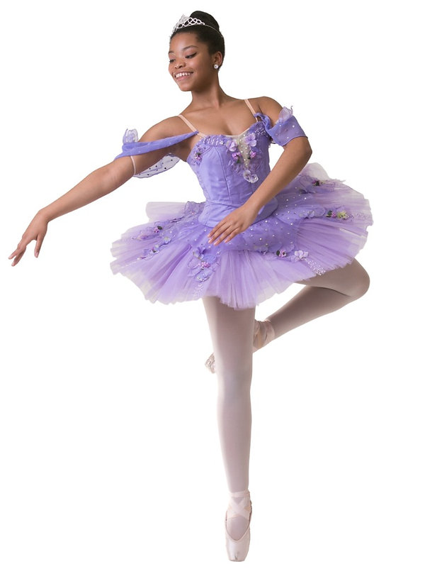 ballerina on purple dress