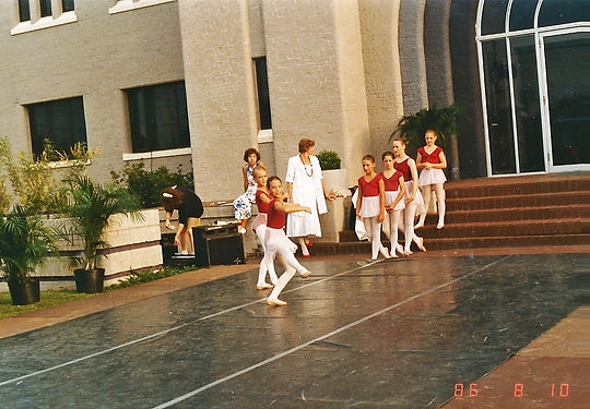 outdoor ballet class
