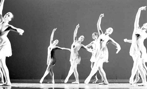 ballet performance black and white