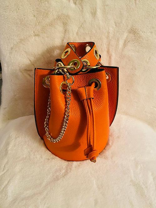 Pumpkin path Leather Bag