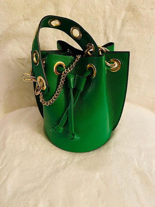 Jolly Green Leather Bag