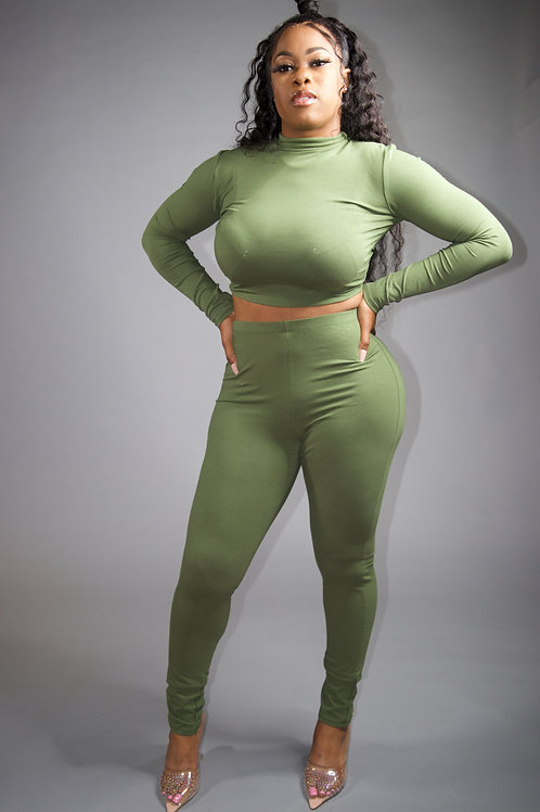 Two piece Tights set (Green)