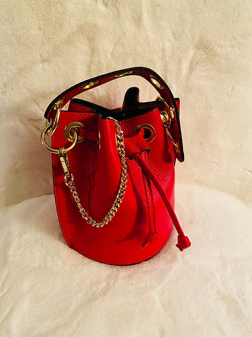 Rudy red Leather Bag