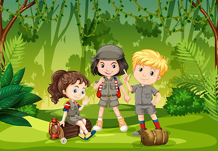 three-scout-kids-in-the-jungle-vector.jp