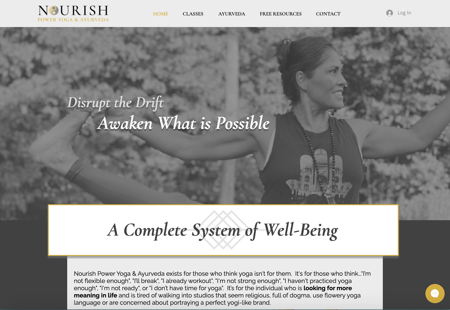 Nourish Power Yoga & Ayurveda (Wix)