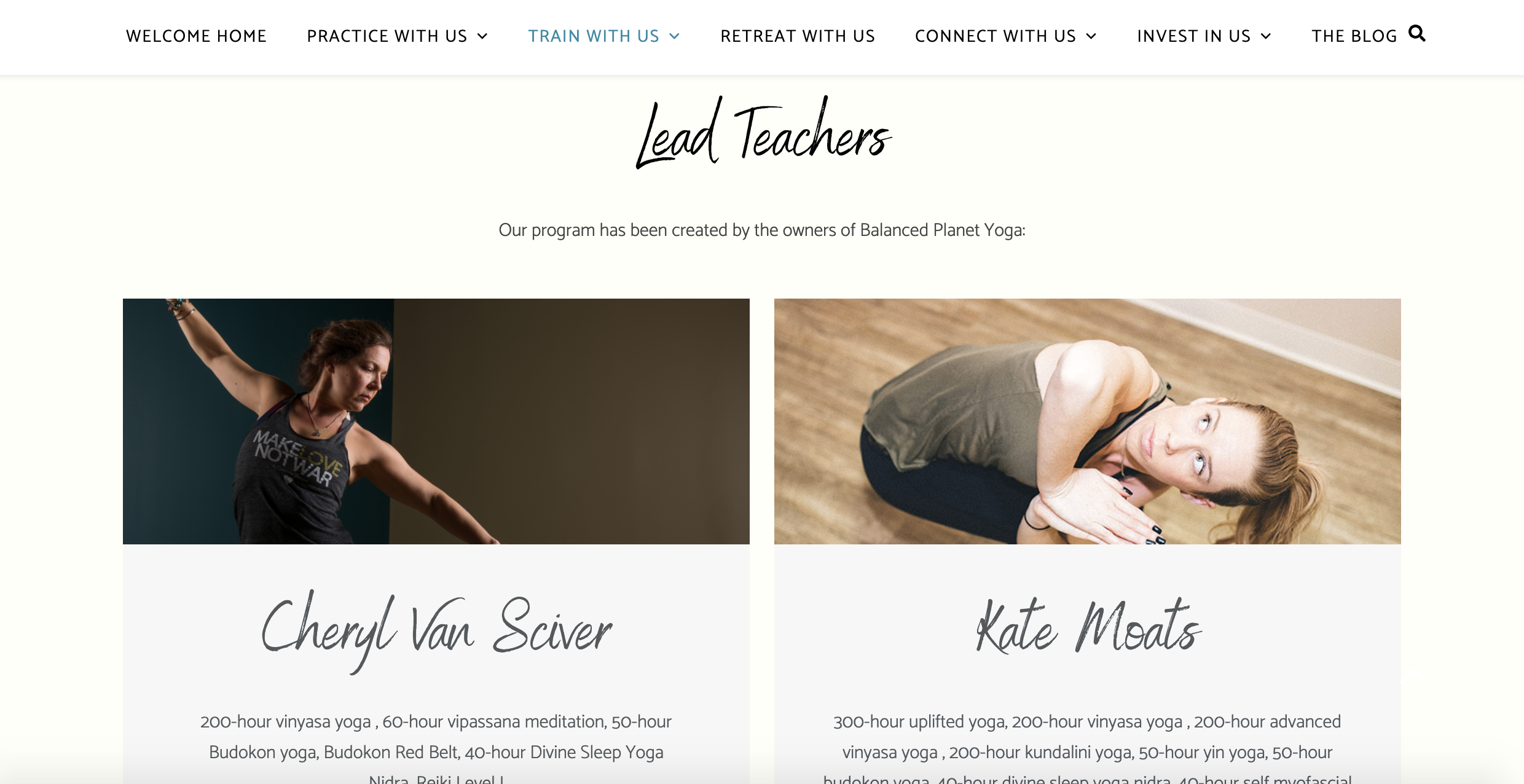 Balanced Planet Yoga (Wordpress)