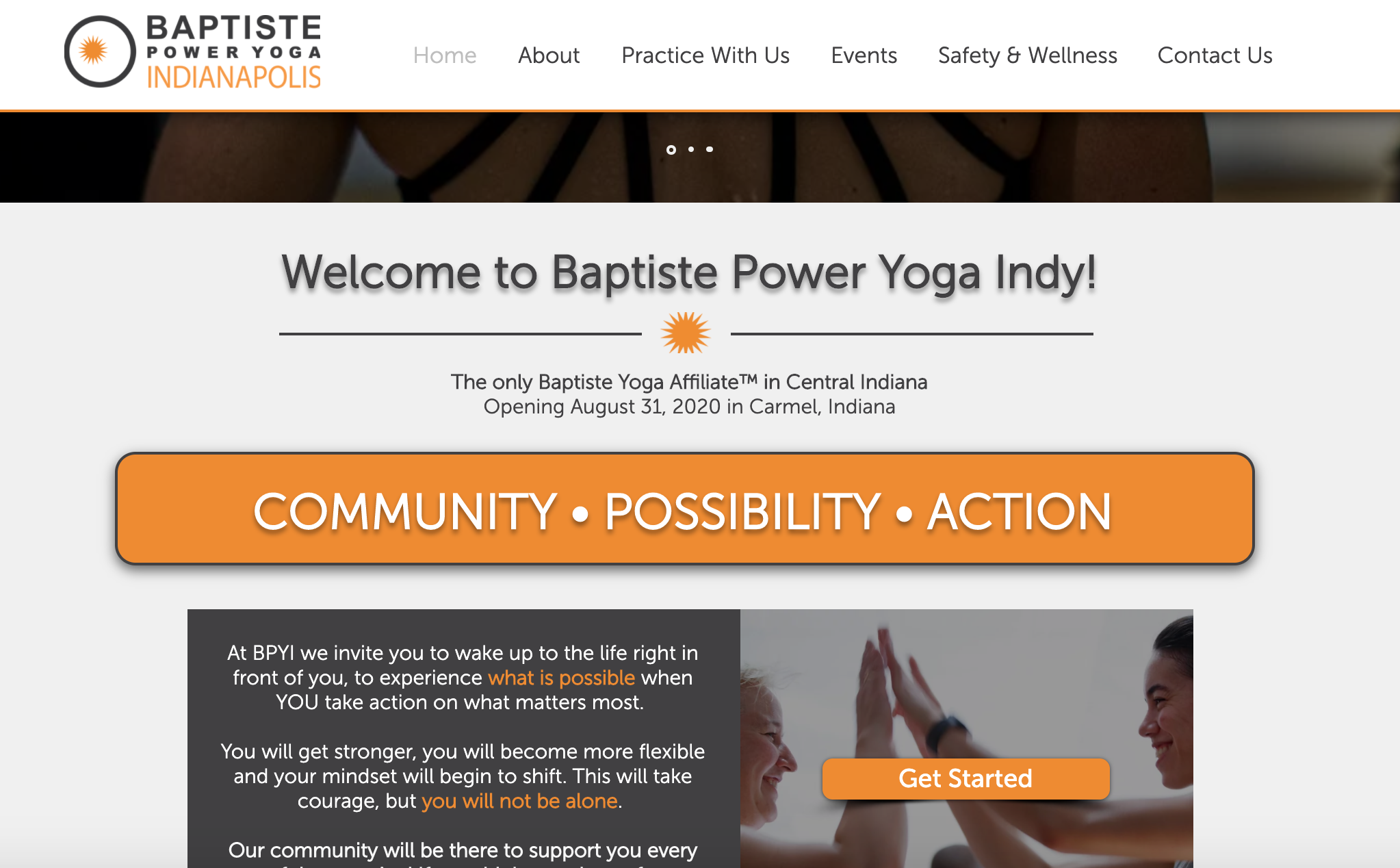 Baptiste Power Yoga Indianapolis (Wix)