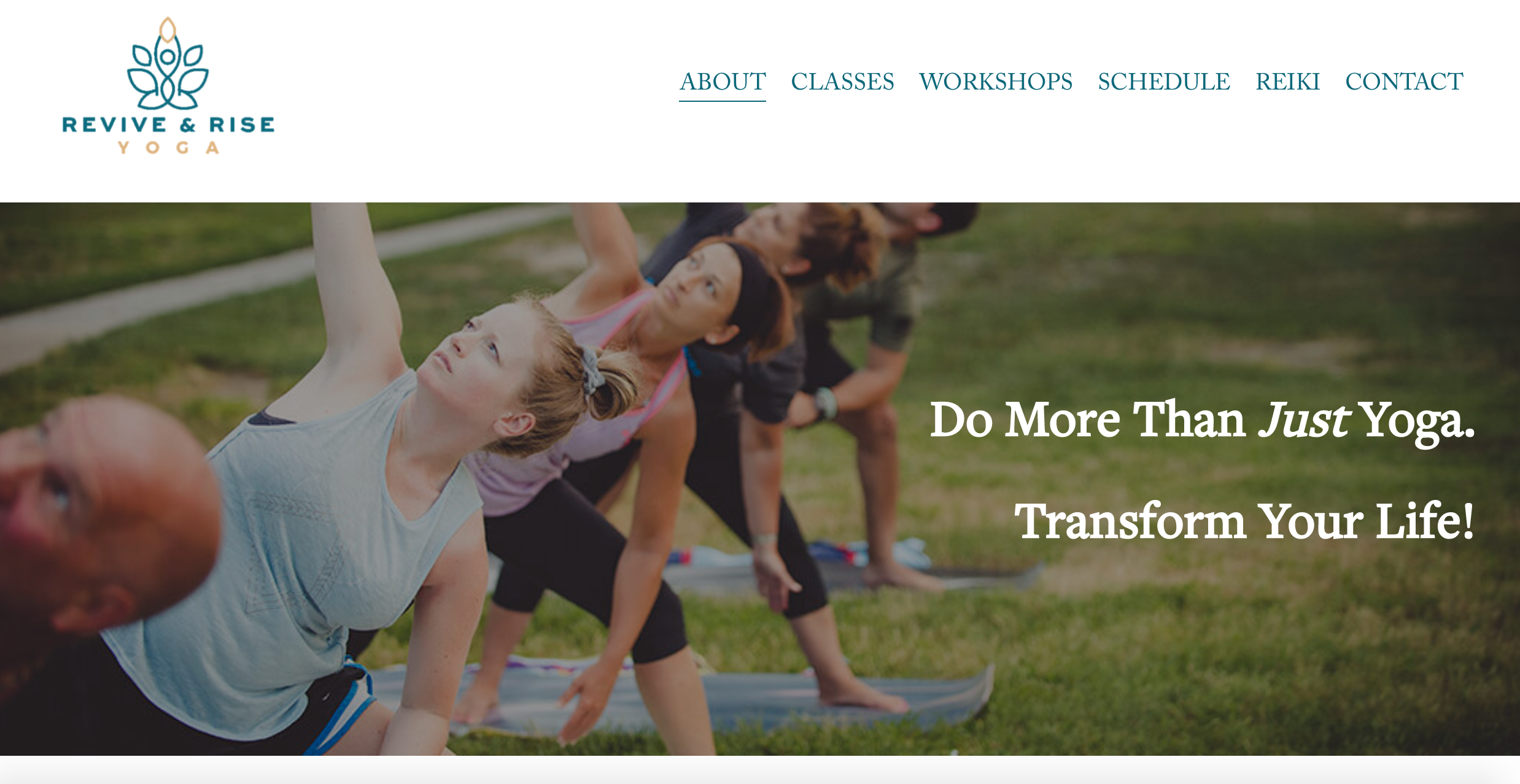 Revive & Rise Yoga (Squarespace)