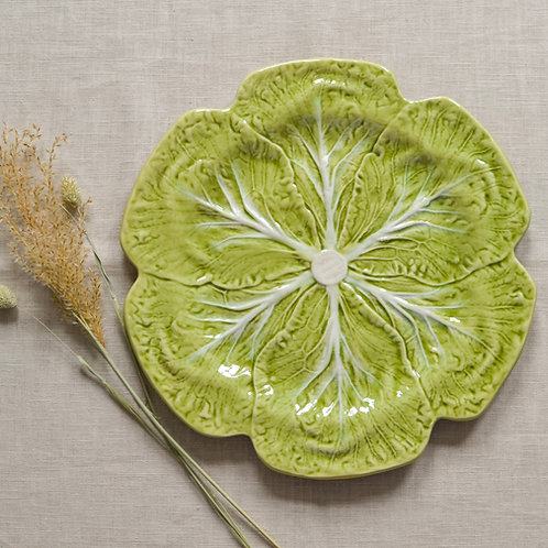 Portuguese Ceramic Cabbage ServingPlatter