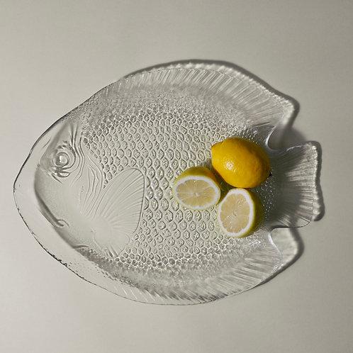 Large Glass Retro Fish Platter