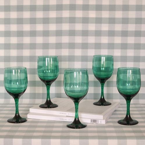 Vintage Emerald Wine Glasses