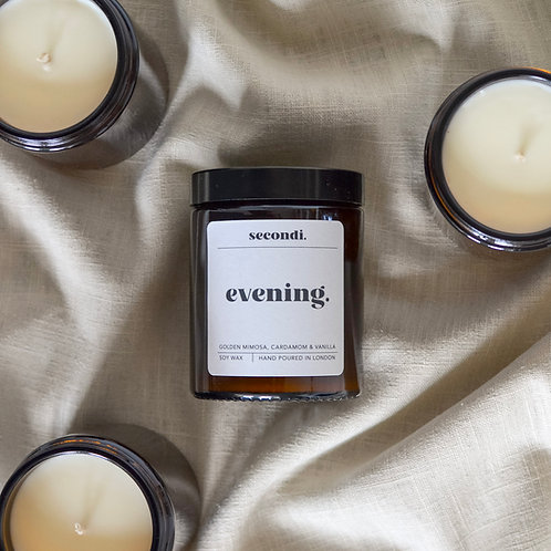 evening. candle