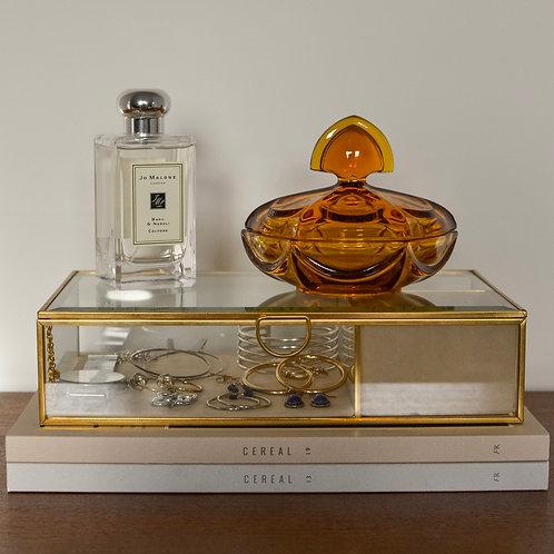 Large Art Deco Amber Vanity Dish
