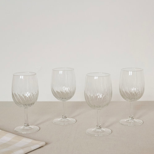 Vintage Wave Wine Glasses