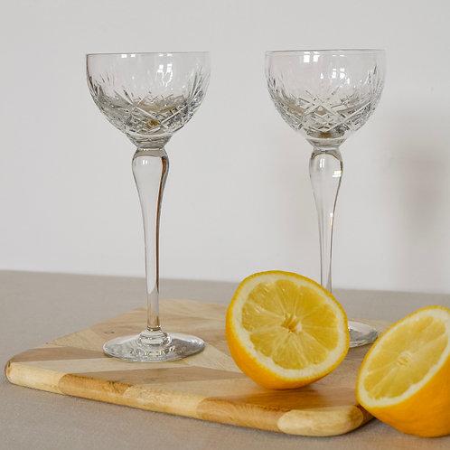 Vintage Crystal Cocktail Glasses