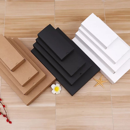 Drawer paper box - Kraft/White/Black colour (1000pcs) 8x8x4cm