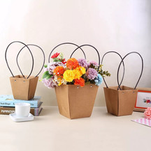 Flower paper box with handle