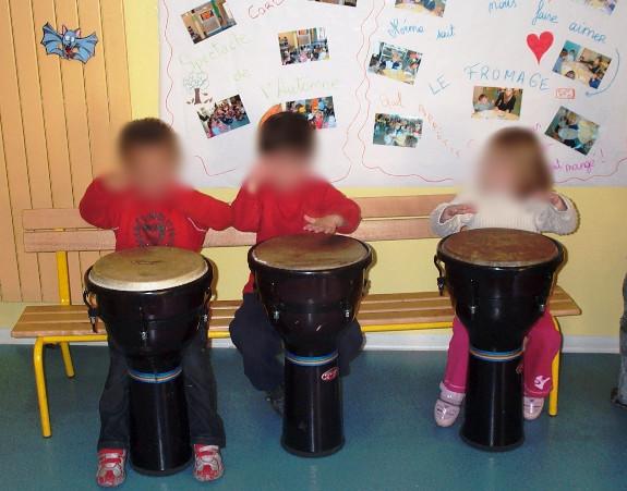 atelier percussions pour les enfants Nic