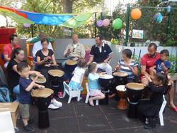 atelier percussions parents enfants