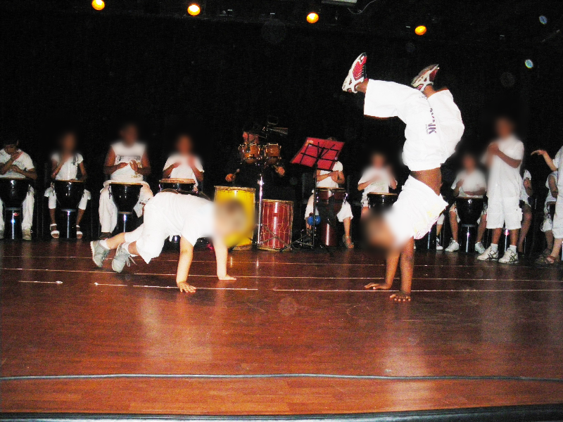 spectacle  percu - danse  9 -10 ans