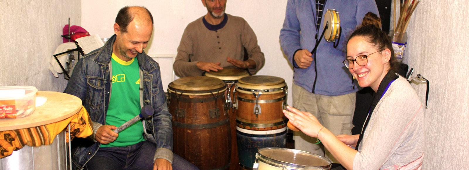 atelier percussions brésiliennes batucada sur Nice
