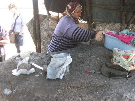 Baking bread at community ovens, Izmir, Turkey