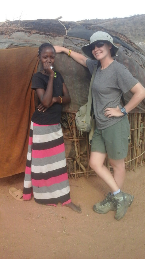 Hanging out with young woman in Namarei (Rendille)
