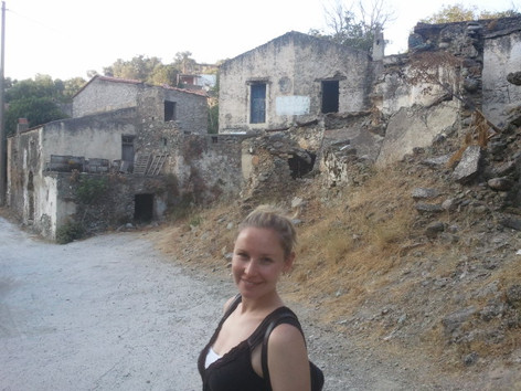 Enjoying local village life in Crete