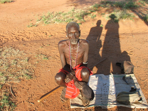 Old mzee in Resim (Samburu), who was an informant for Paul Spencer during his fieldwork in the 1950s