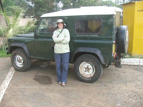 My personal, and much loved, vehicle in Kenya...a Land Rover xd90.  She's a beauty!