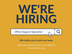 We're Hiring: Office Support Specialist