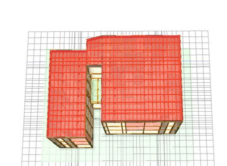 木造3階建て集合住宅 くびれを有する平面系