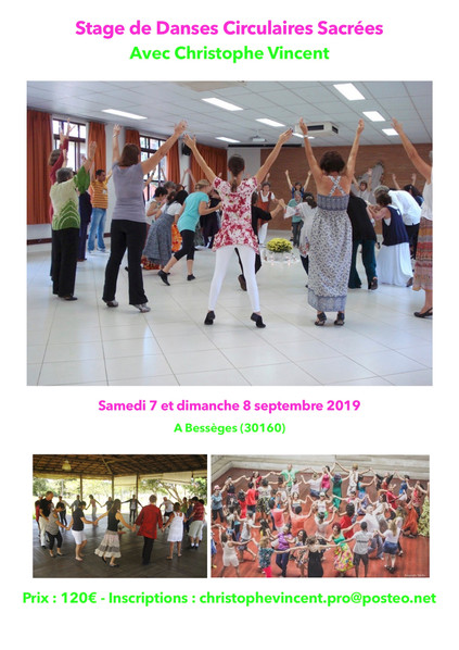 Stage de Danses Circulaires Sacrées à Bessèges (30 - près d'Alès)
