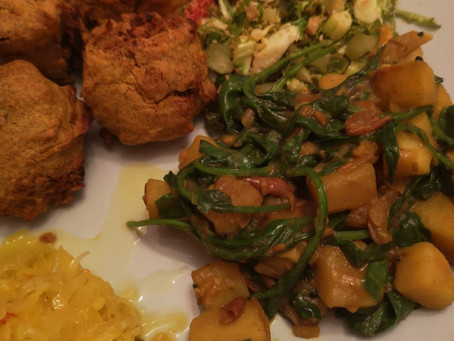 RECIPE: Saag Aloo with Not Your Nana's Piccalilli Kraut