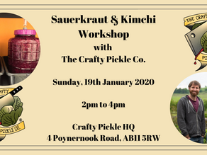 NEW DATE - Kraut & Kimchi Masterclass with The Crafty Pickle Co!!