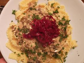 RECIPE: Creamy Blue Cheese & Mushroom Pasta with Reclaimed Red Kraut