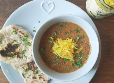 RECIPE: Black dal with Not Your Nana's Piccalilli Kraut