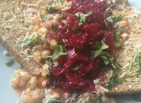 RECIPE: Pimped-up Beans on Toast with Reclaimed Red Kraut