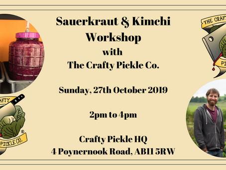 Sauerkraut & Kimchi Workshop with The Crafty Pickle!!