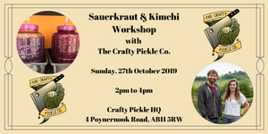 Sauerkraut and Kimchi Workshop with The Crafty Pickle Co. making live fermented foods