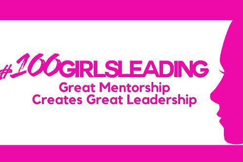 Volunteer #100GirlsLeading Logo Tee
