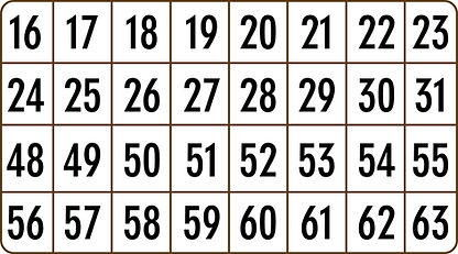 Card with #1-63
