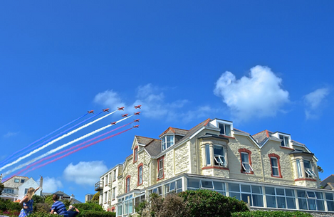 Red Arrows Fly By