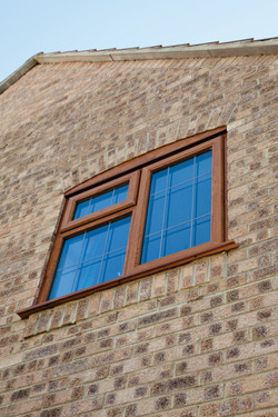 Golden Oak UPVC Window