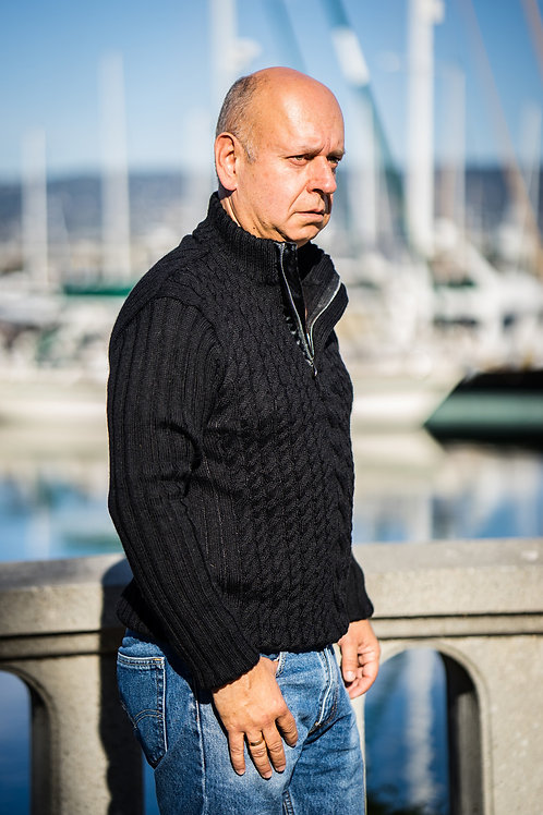 Rugged Pullover with Zipper
