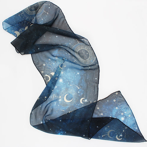 Celestial Scarf - Paris Chiffon