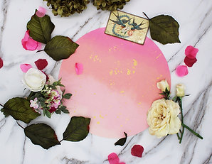 Blush Pink and Gold Vegan Leather Placemat